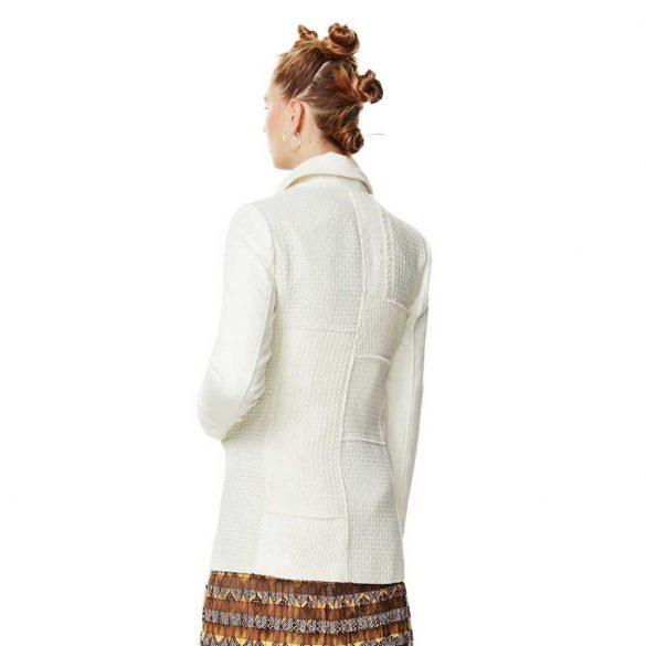 Desigual krém átmeneti gyapjú kabát  Abrig Lousien