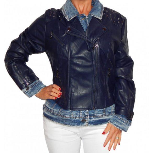 Desigual sötétkék női műbőr dzseki Chaq Beth