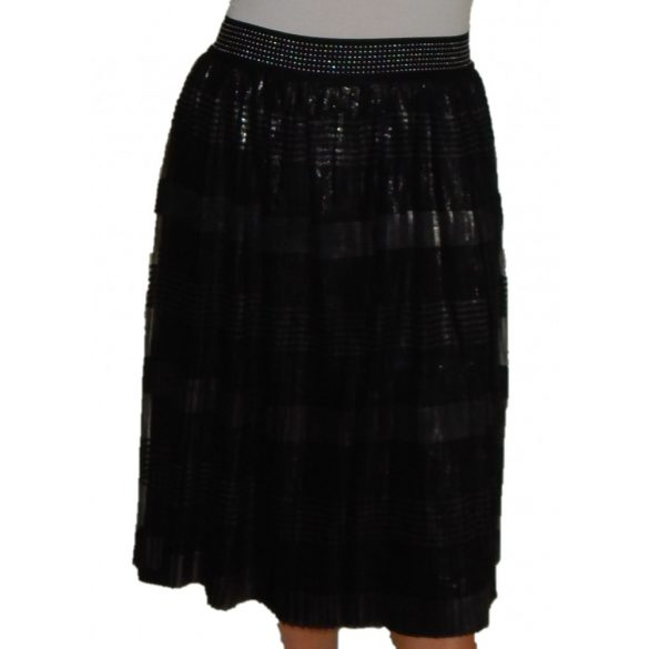 Desigual női fekete rakott szoknya Fal Pili