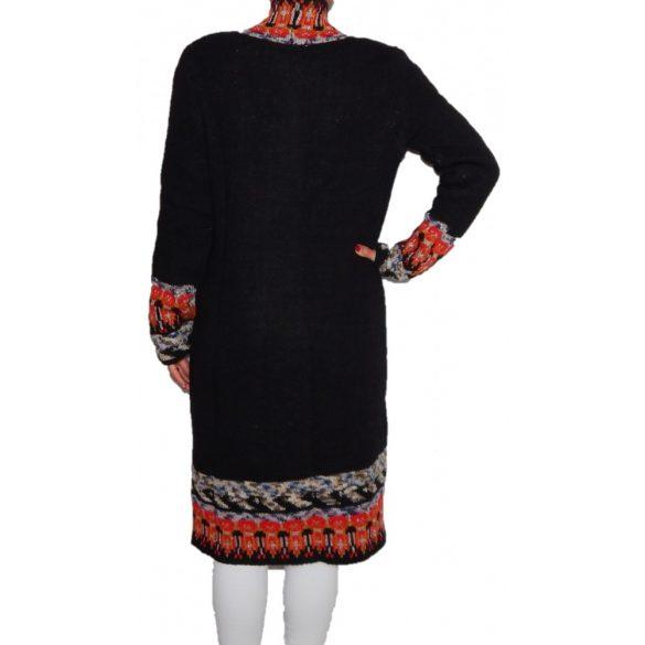 Desigual női fekete hosszú gyapjú kardigán Jers Brown