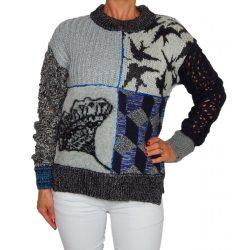 Desigaul szürke-kék kötött női pulóver Jers Hassan(S)