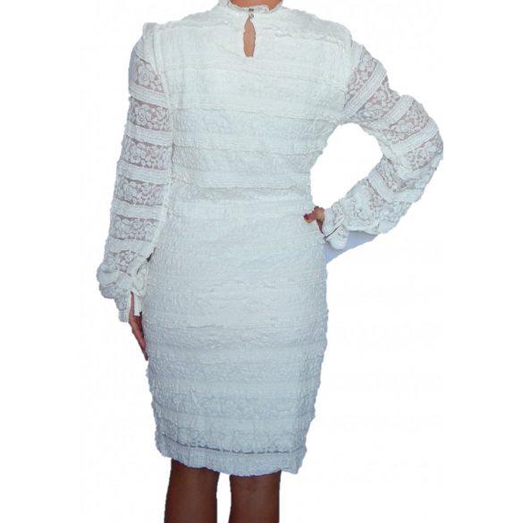 Desigual fehér hosszú ujjú csipke ruha Vest Nurieta