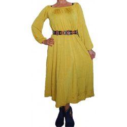 Desigual sárga női maxi ruha övvel Vest Home