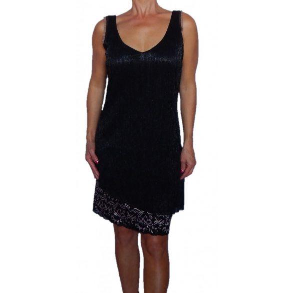Desigual fekete csillámszálas party ruha Vest Peti