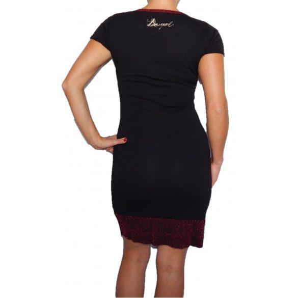 Desigual fekete kötött rövidujjú ruha Vest Muriel