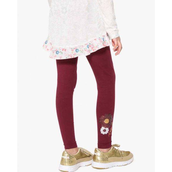 Desigual bordó flitteres lányka legging 13-14 éves korosztályra