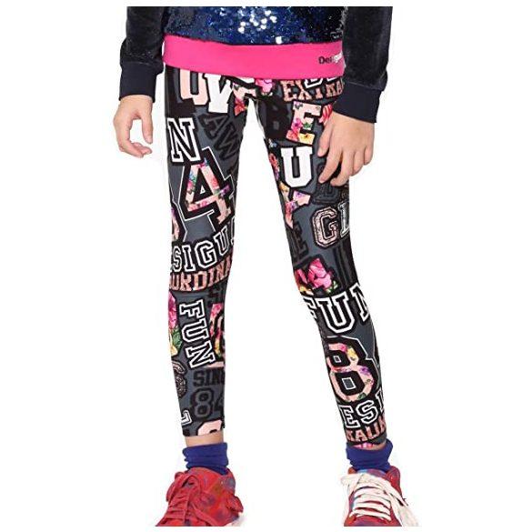 Desigual színes kislány pamut legging 4 éves korosztálynak