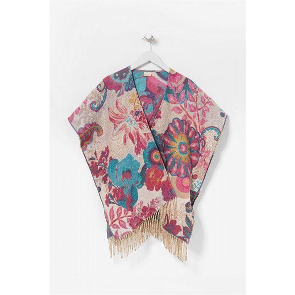 Desigual színes virágos meleg poncso Poncho Essential