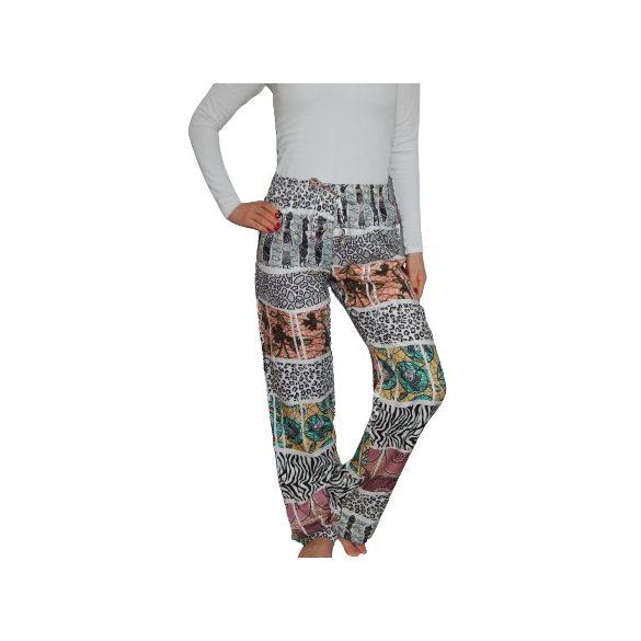 Desigual afrika mintás kényelmes női nadrág Pant Wild