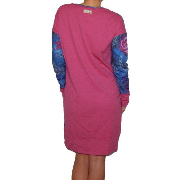 Desigual pink és lila hosszú ujjú pamut hálóruha