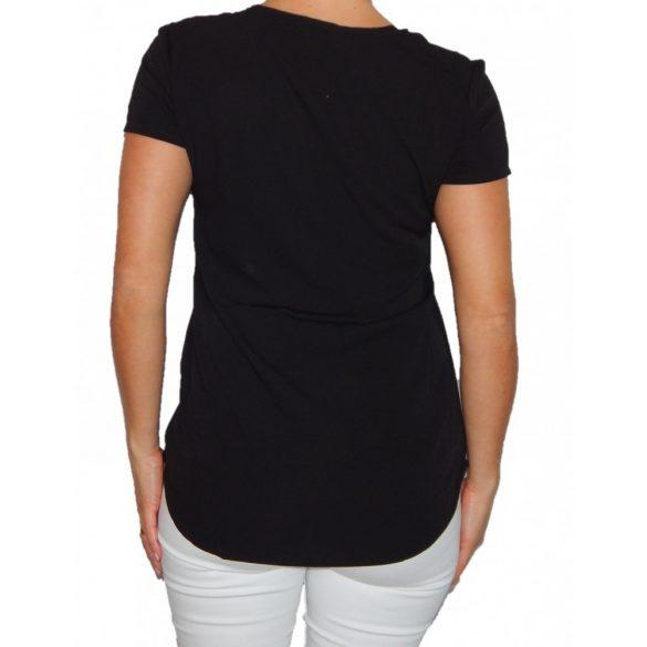 Desigual fekete hímzett női rövidujjú blúz