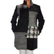 Desigual szürke gyapjú kabát Abrig Rosita