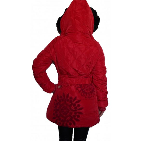 Desigual meleg piros női télikabát Abrig Anorak