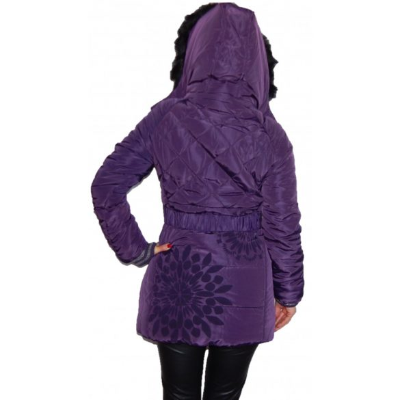 Desigual lila kapucnis női télikabát abrig Anorak