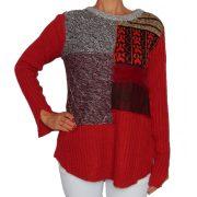 Desigual bordó kötött női pulóver Jers Milano