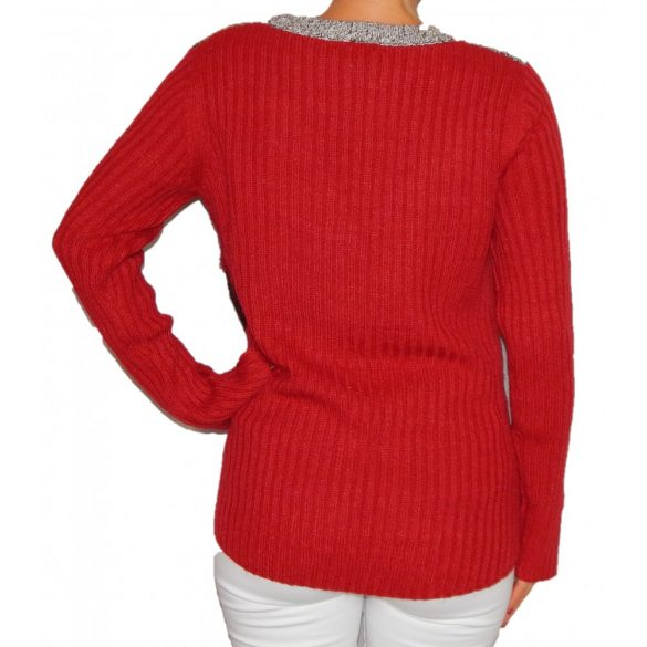 Desigual bordó kötött női pulóver Jers Milano(M)