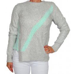 Desigual világosszürke gyapjú kötött női pulóver Jers Piscis