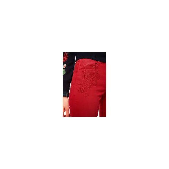 Desigual bordó sztreccses egyenesszárú női nadrág Pant Angelinass