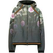 Deisgual terpepmintás virágos női kapucnis zipzáros dzseki