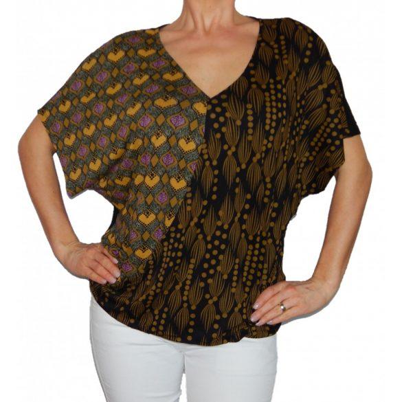 Desigual denevér fazonú fekete barna női felső Ts Yolanda