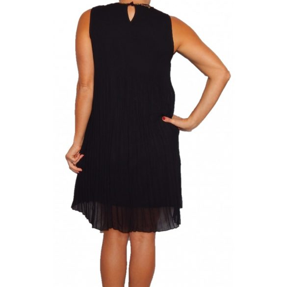 Desigual fekete rakott ujjatlan női ruha Vest Hudson