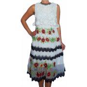 Desigual fehér fekete ujjatlan női csipke ruha Vest Scalet