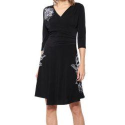 Desigual fekete fehér virágos női ruha
