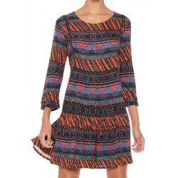 Desigual színes őszi női ruha Vest Dudeleis