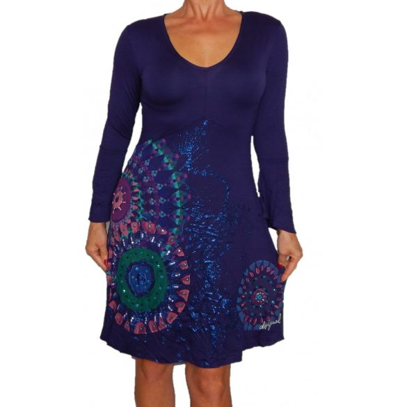 Desigual sötétkék hosszú ujjú női ruha vest Amapola