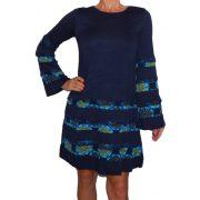 Desigual söétkék hosszú ujjú női ruha Vest Maryland