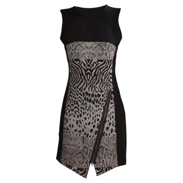 Desigual ruha fekete szürke ujjatlan vastag női  Vest Santorini
