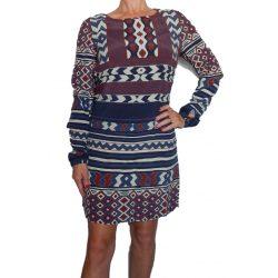 Desigual mintás női ruha Vest Marfil