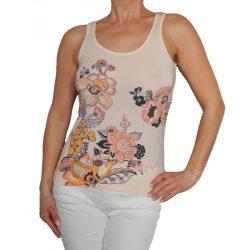 Desigual barackvirág színű csipkés hátú női top Ts Rkomatic Boho