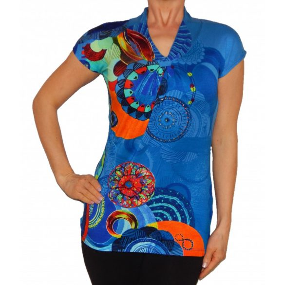 Desigual póló kék rövidujjú Ts Liubov