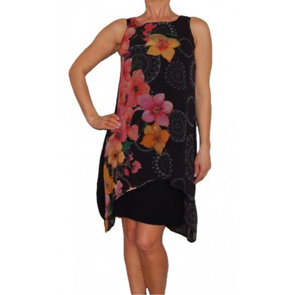 Desigual ruha fekete virágos Vest Tamara