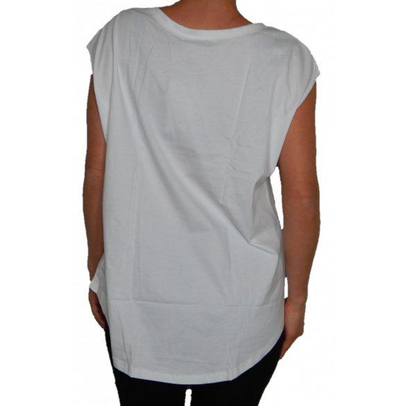 Desigual póló fehér feliratos ujjatlan Ts Atypical