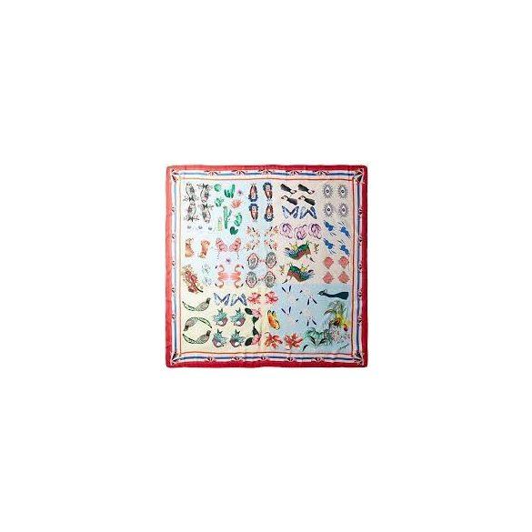 Desigual négyzet alakú állatmintás selymes női sál