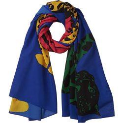 Desigual kék párducos női strandkendő vagy sál