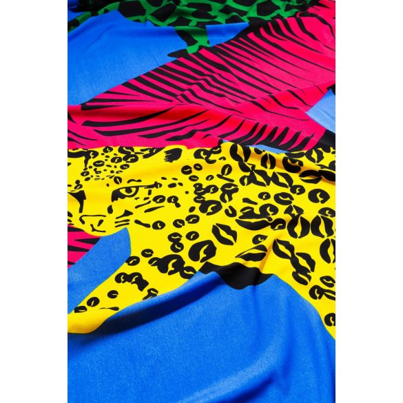 Desigual kék párducos női selyem sál
