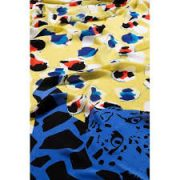 Desigual arany kék párducos női selyem sál