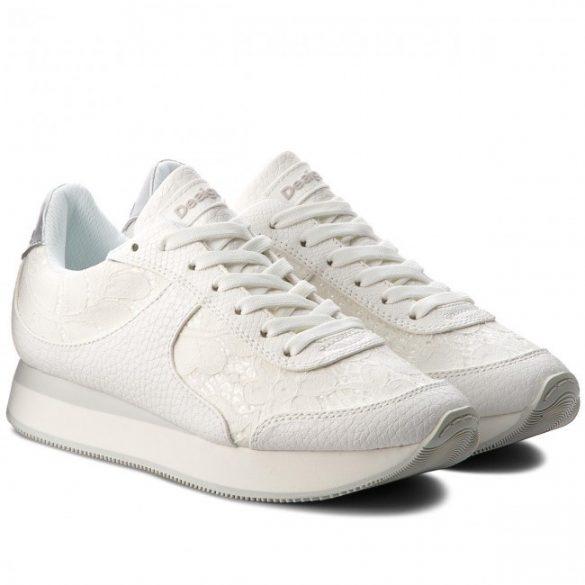 Desigual fehér csipkés női sneaker cipő