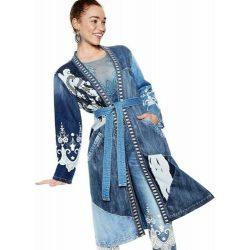 Desigual farmer kabát hosszú hímzett Chaq Martha(L)