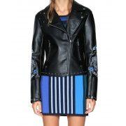 Desigual fekete szegecses női műbőr kabát Chaq Naomie