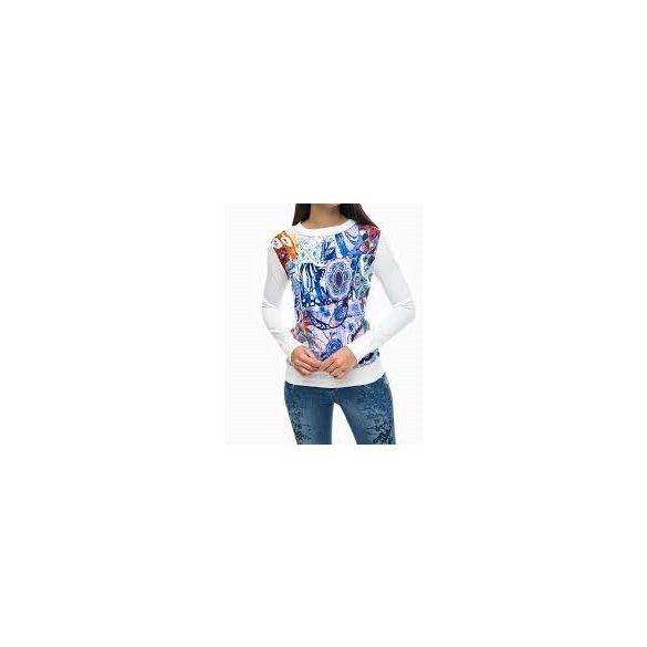 Desigual fehér színes mintás vékony pulóver Jers Dabao Philippines