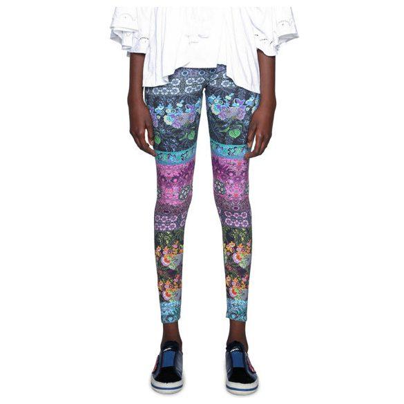 Desigual színes mintás női pamut legging Amurense
