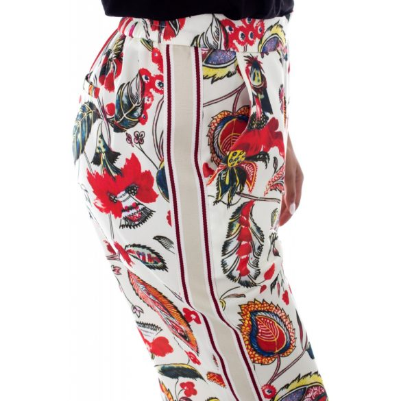 Desigual krém színes virágos bő fazonú női nadrág Pamt Dimitri