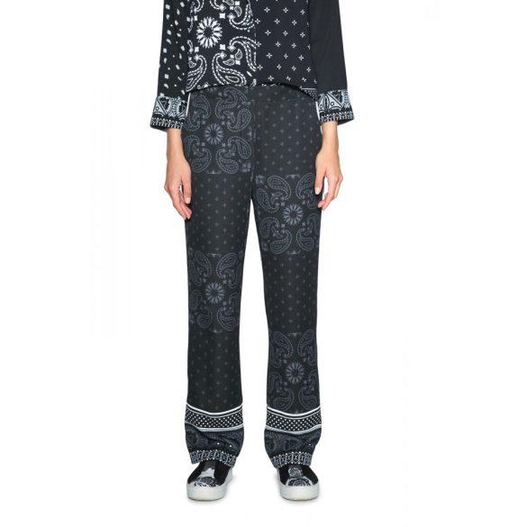 Desigual fekete mintás lezser női nadrág Pant Enya