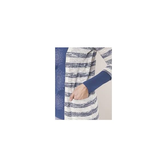 Desigual kék fehér hosszú ujjú kardigán fazonú felső Ts montse