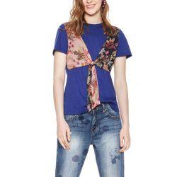 Desiugal kék női pamuto póló színes mell résszel Ts Tanica