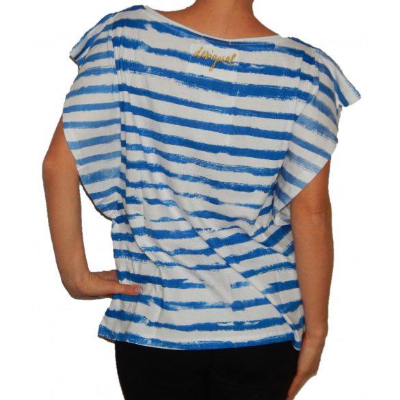 Desigual póló kék fehér csíkos Ts Pilar